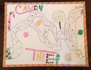Math Board Game Candy Thief
