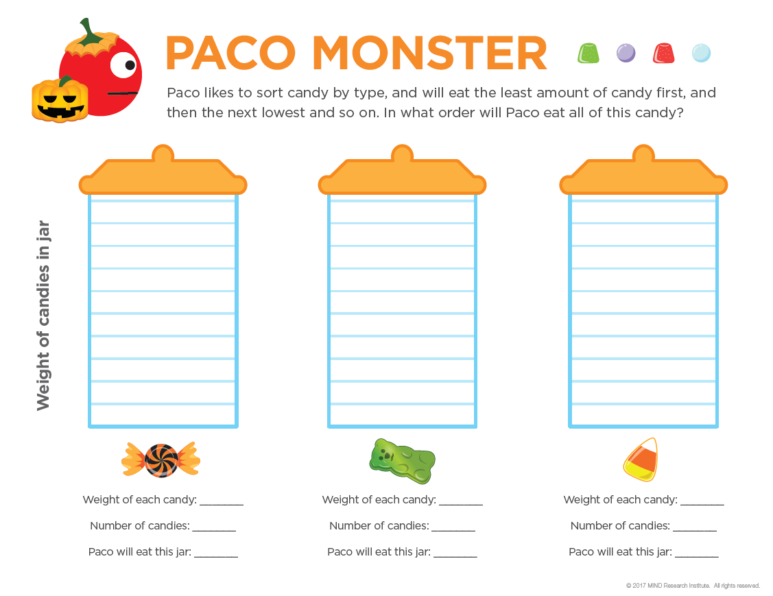 free halloween math activity