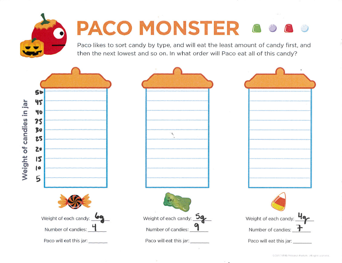 free halloween math printable