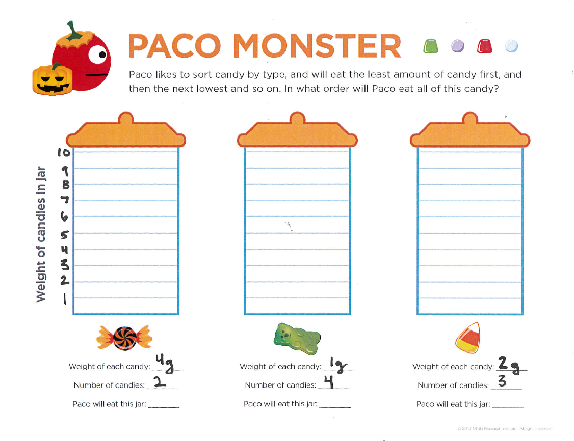 halloween math printable worksheet