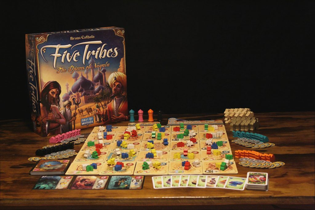 board games with math five tribes
