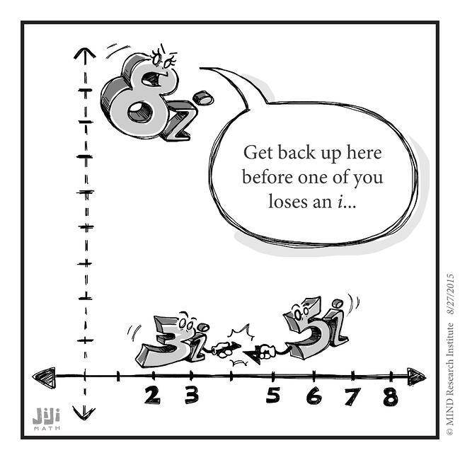 imaginary numbers funny math cartoon
