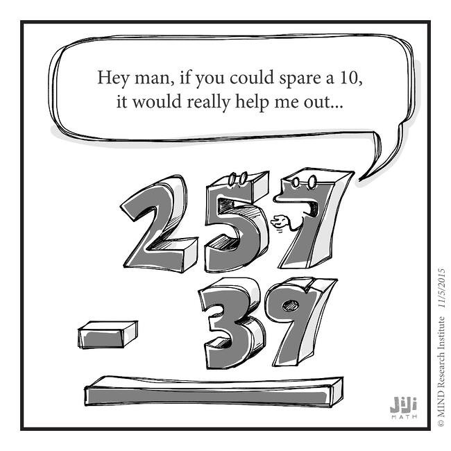 Off the Number Line: Spare a Ten