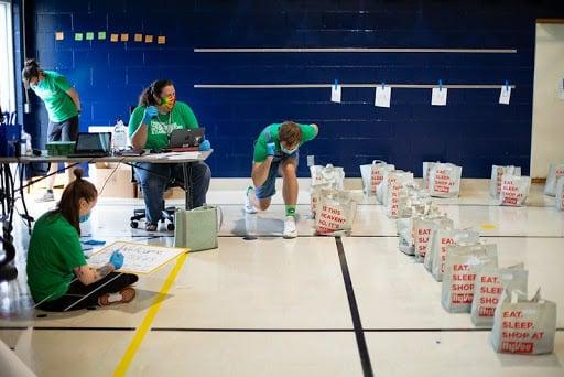 Findley educators distribute supplies