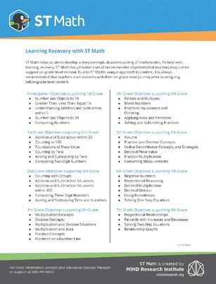 Flyer | Learning Recovery Objectives_ST19