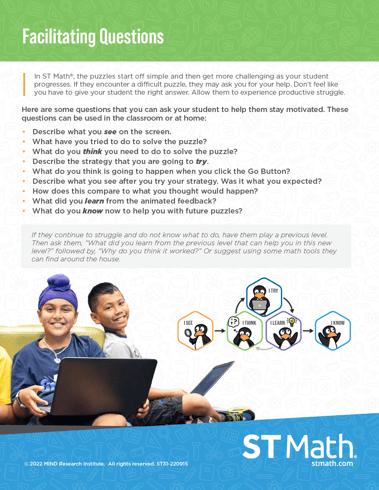 ST Math Facilitating Questions Poster Pic