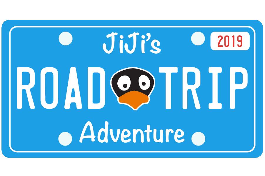 JiJi's Road Trip License Plate