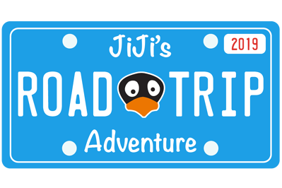 JiJi's Road Trip License Plate
