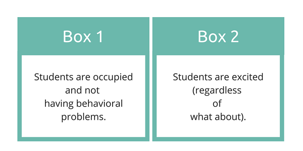 Student Engagement Boxes Graphic